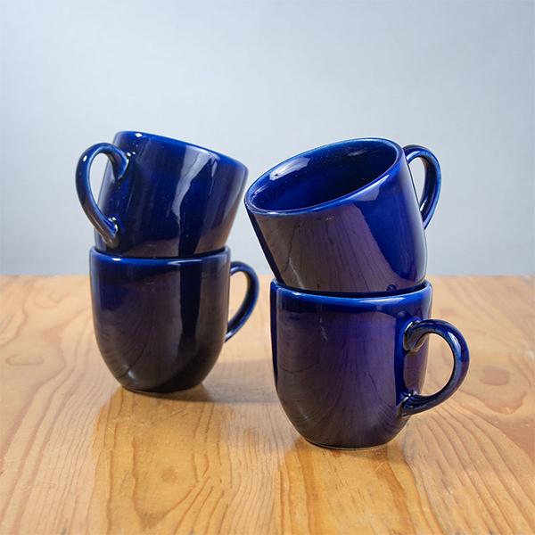 Handmade-Ceramic-Cups-Klien-Blue-Tulip-Cups-Jugmug-Thela